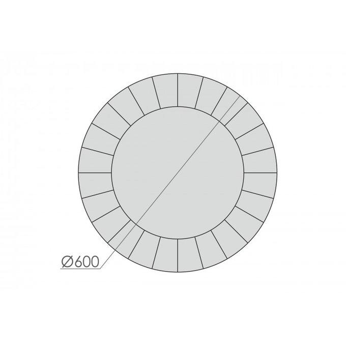 Зеркало круглое с гравировкой