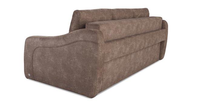 Прямой диван-кровать Иден коричневого цвета