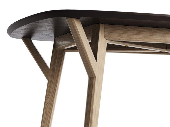 Обеденный стол Proso осветлённый дуб / кофейный