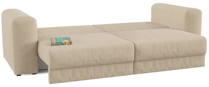 Диван-кровать прямой Мэдисон Иллюзи бежевого цвета