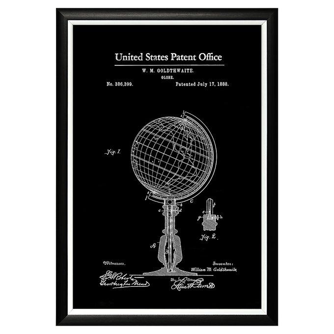 Арт-постер Патент на глобус 1888