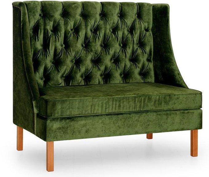 Диван прямой Шлягер дизайн 3 зеленого цвета
