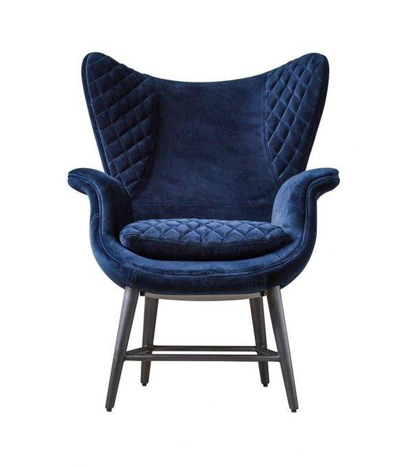 Кресло Tudor синего цвета