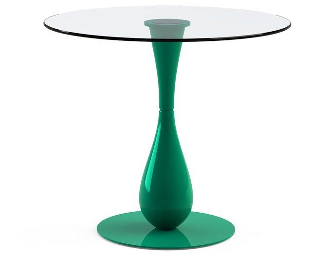 """Обеденный стол  """"FLOS Green"""" со столешницей из закаленного стекла"""