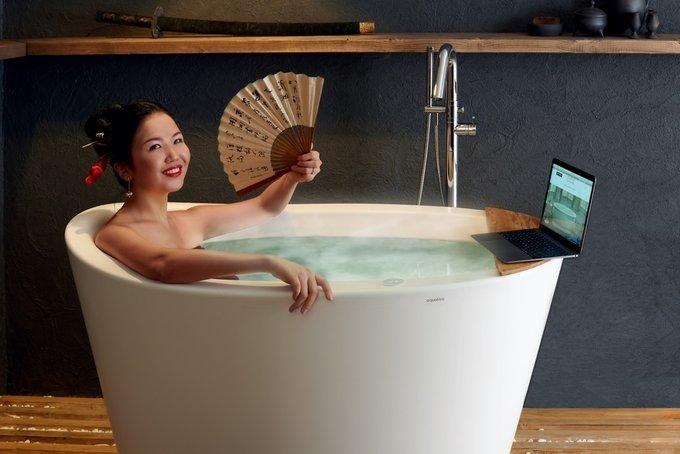 Каменная Ванна True Ofuro Tranquility с Подогревом Воды в Японском Стиле