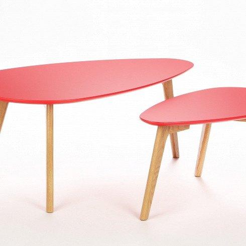 """Набор кофейных столов """"Lexie"""" с ножками из Американского белого дуба"""