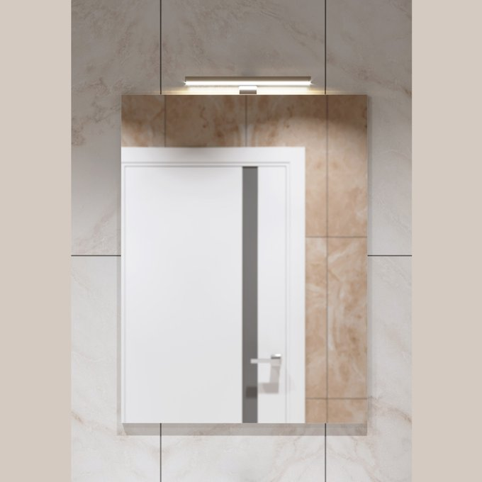 Настенное зеркало для ванной Soft Silver 60