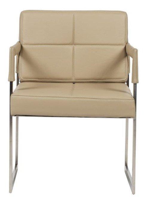 "Кресло ""Aster Chair"" Бежевая Кожа Класса Премиум"