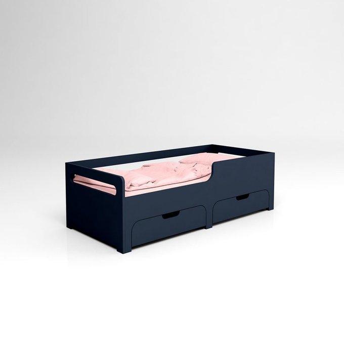 Кровать с бортом и ящиками playply MODE D