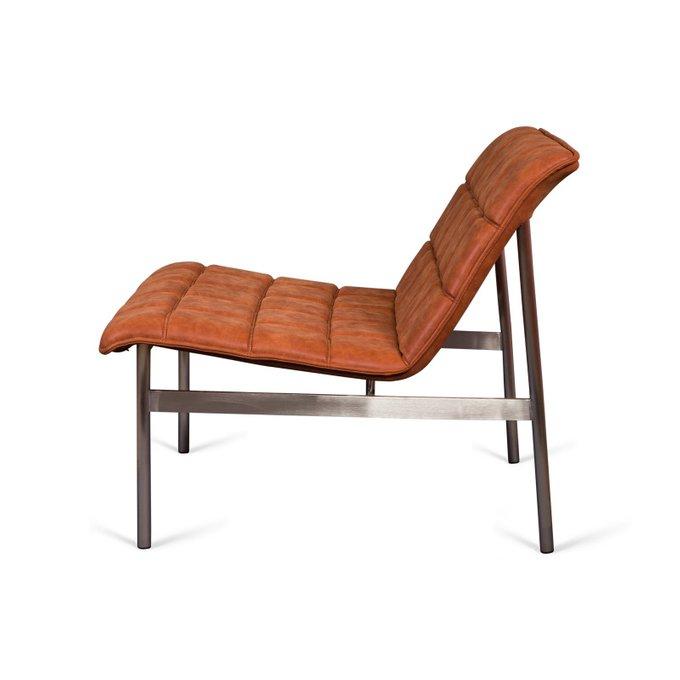 Кресло Glossy оранжево-карамельном цвета