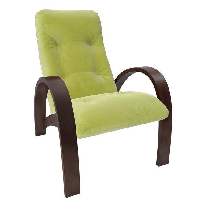Кресло для отдыха Модель S7 с обивкой Verona_AppleGreen