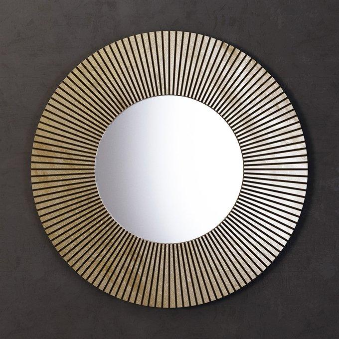 Зеркало круглое Sunshine золотого цвета