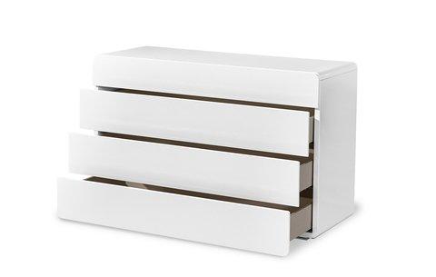 Белый комод с четырьмя ящиками
