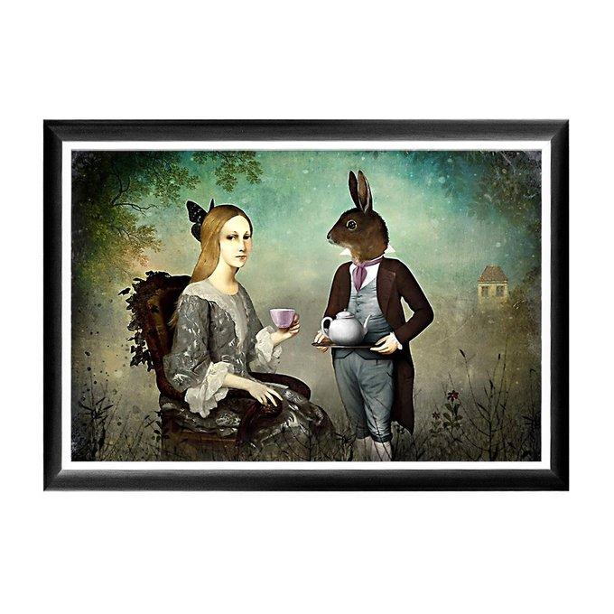 Арт-постер Чаепитие в раме из полистирола
