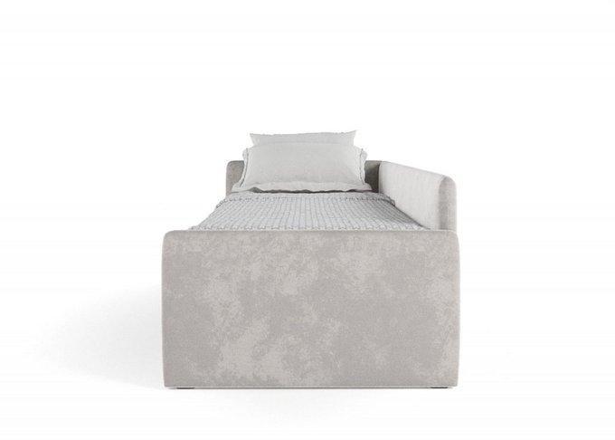 Кровать Гарвард 90х200 серого цвета
