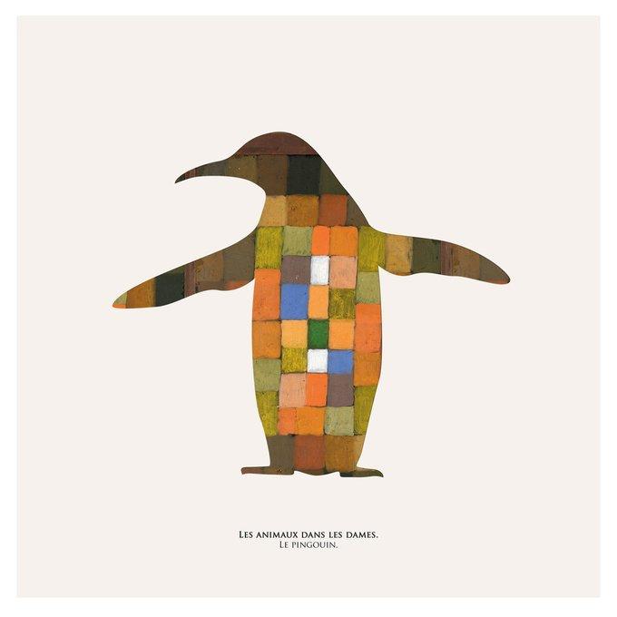 Картина (репродукция, постер): Пингвин в шашках