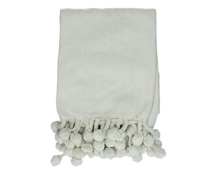 Плед из хлопка белого цвета