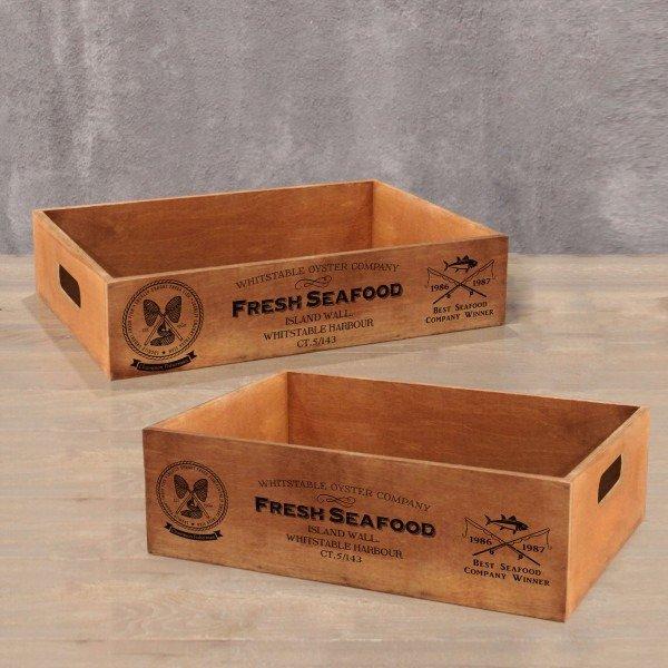 Ящик для хранения Seafood из фанеры