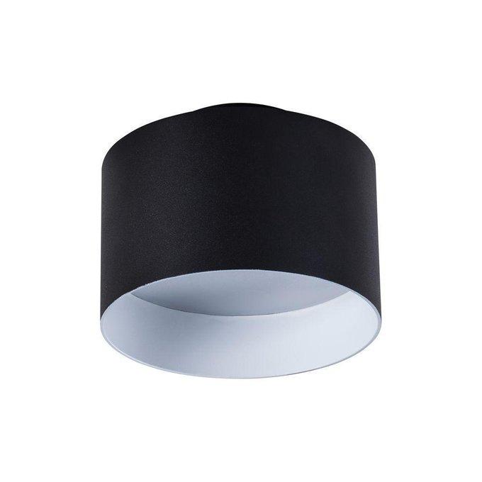 Потолочный светодиодный светильник Planet черного цвета