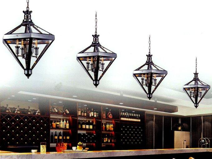 Подвесной светильник DeLight Collection с плафоном из прозрачного стекла