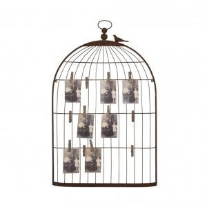 Декор для стен Metal Bird Cage Shape Card & Photo Holder
