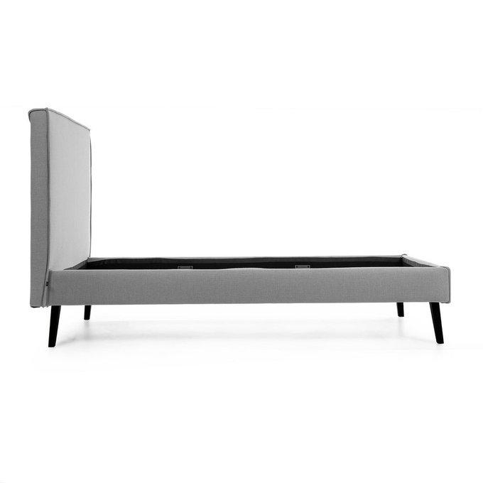Кровать Этель 140х190 серого цвета