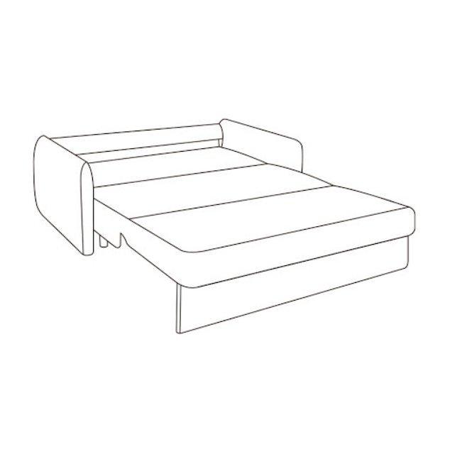 Диван-кровать Кейн M серо-бежевого цвета