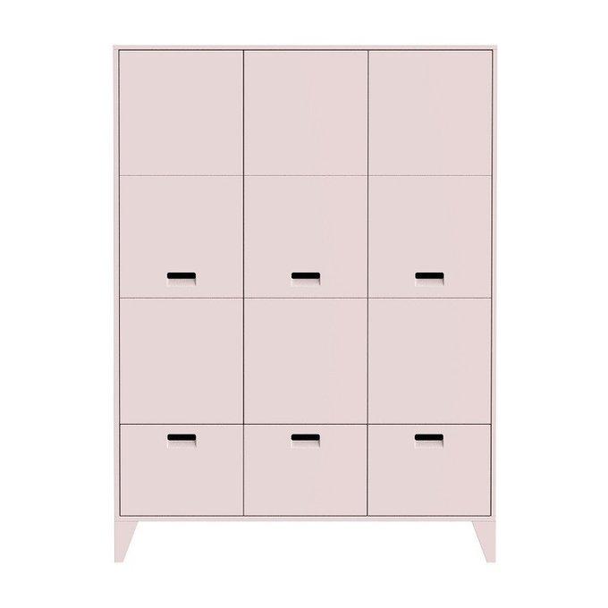 Шкаф  Nikki Pink розового цвета