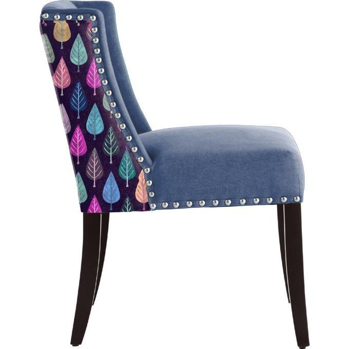 стул с мягкой обивкой Chameleo Semi-Leaf синий