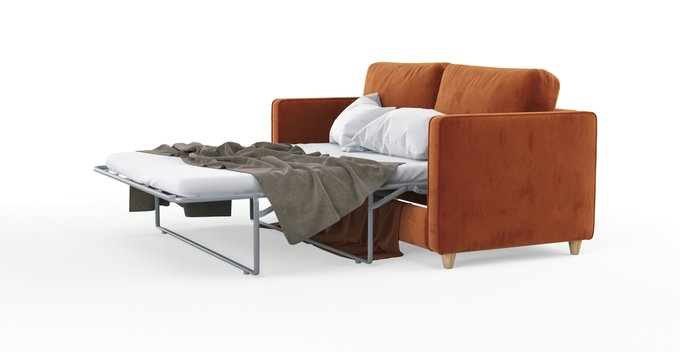Двухместный раскладной диван Scott из экокожи