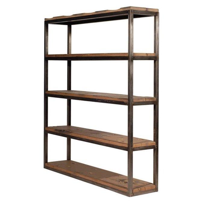 Стеллаж Axel Double Bookcase с деревянными полками
