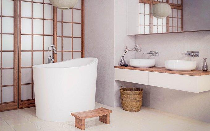 Каменная Ванна True Ofuro Mini Сидячая в Японском Стиле