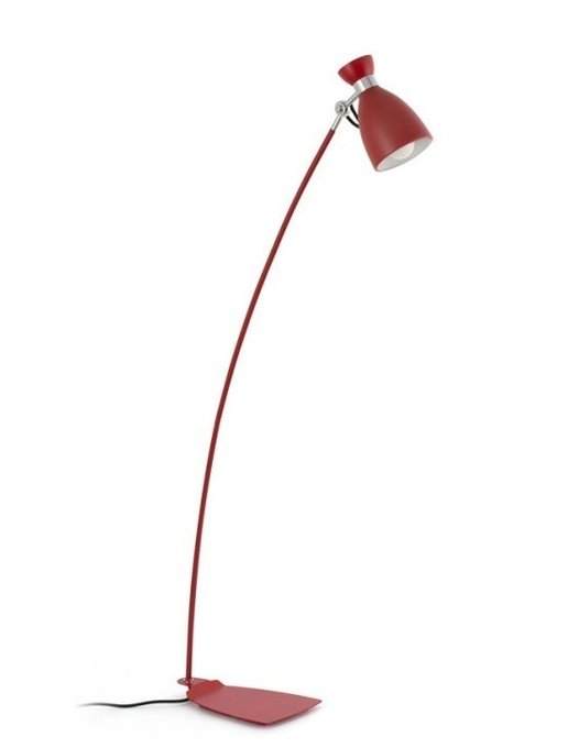 Торшер Faro Retro красный из металла
