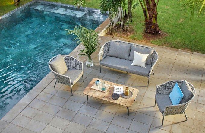 Комплект мебели из роупа Laval Lounge серого цвета
