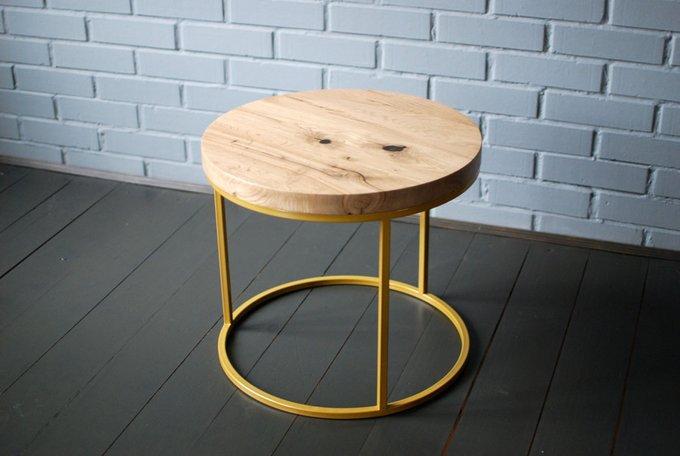 Журнальный стол O Gold с подстольем золотистого цвета