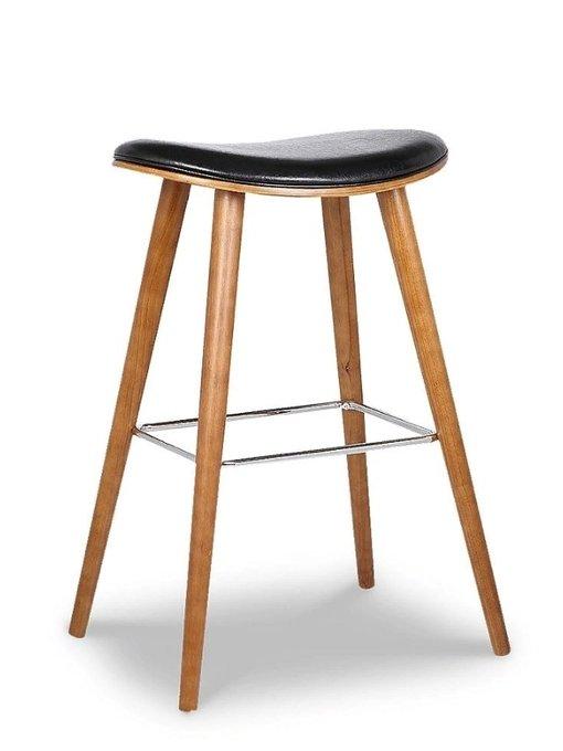 Барный стул на ножках из массива дерева