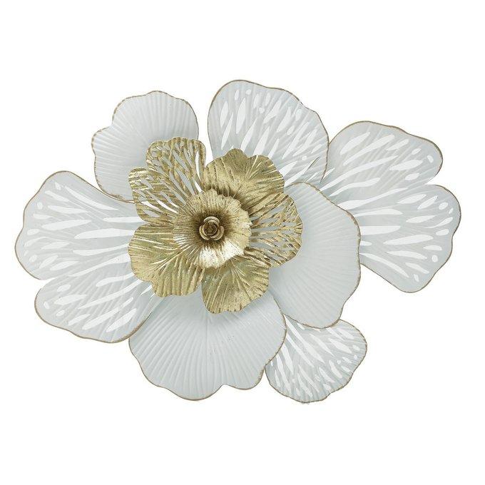 Декор настенный бело-золотого цвета