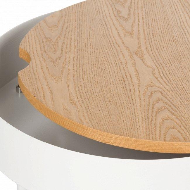 Журнальный стол Lago с деревянной столешницей