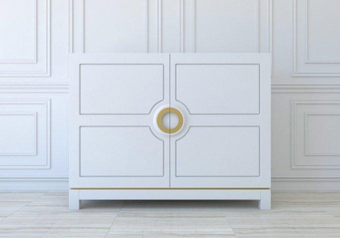 Белый комод Massero белого цвета