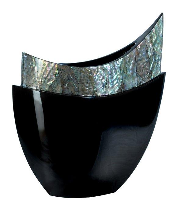 Ваза полумесяц(чёрный перламутр)