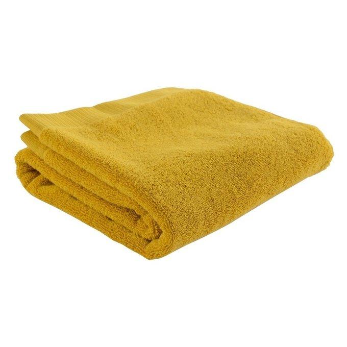 Полотенце для рук из хлопка горчичного цвета