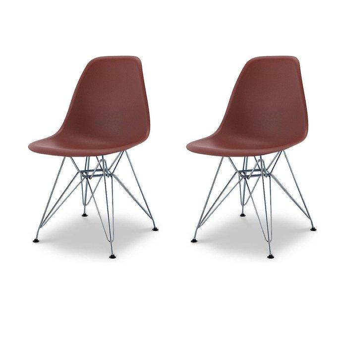 Набор из двух стульев Джексон коричневого цвета