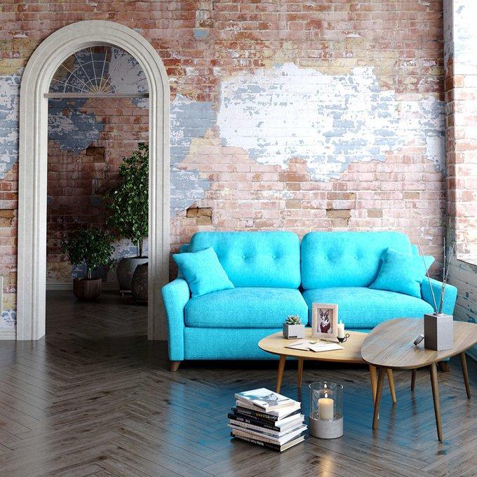 Диван-кровать Raf EKL трехместный голубой