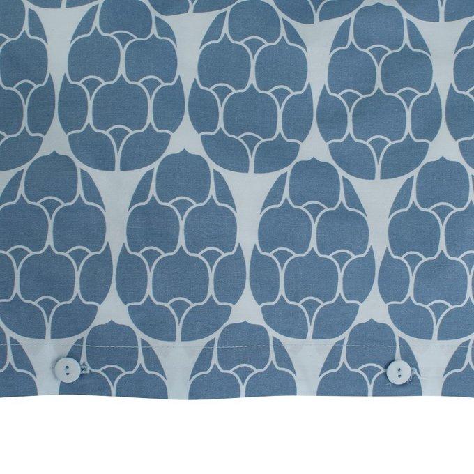 Пододеяльник двухсторонний голубого цвета с принтом Хвойное настроение 150х200
