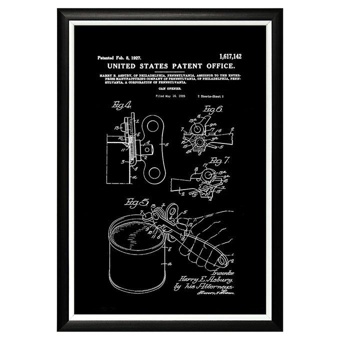 Арт-постер Патент на консервный нож 1927