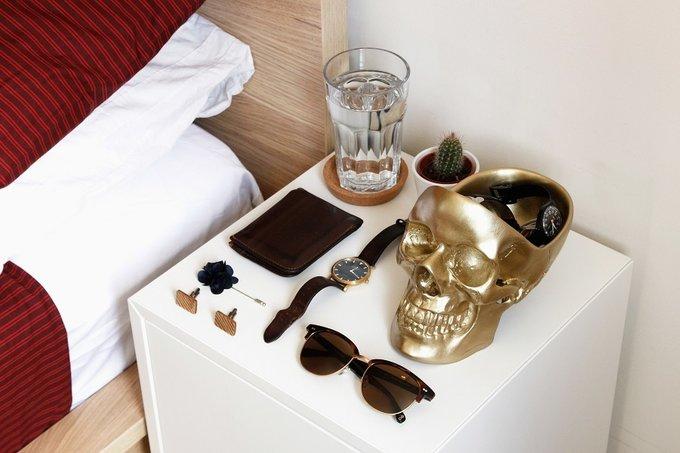 Органайзер для мелочей Skull золотого цвета