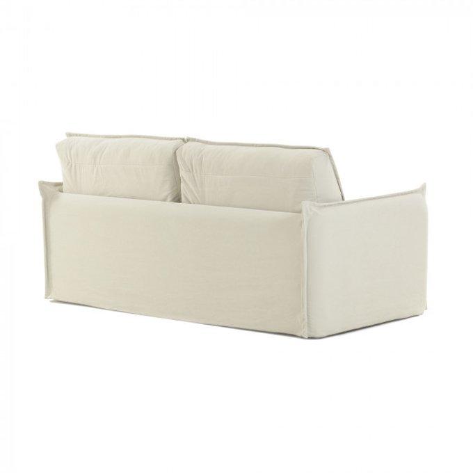 Диван-кровать Samsa с полиуретановым матрасом  белого цвета