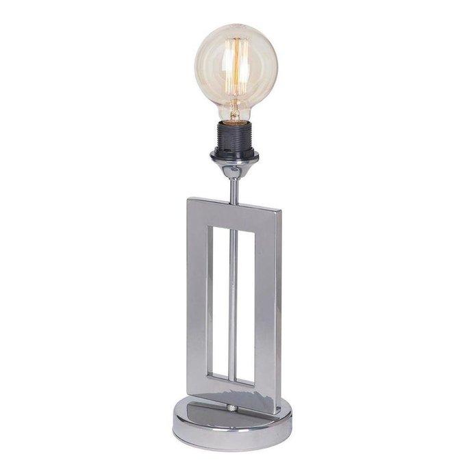 Настольная лампа цвета хром