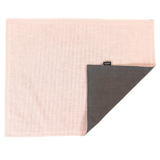 Двухсторонняя салфетка под приборы из умягченного льна