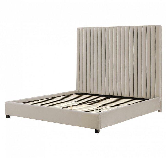 Кровать Mora 160х200 бежевого цвета